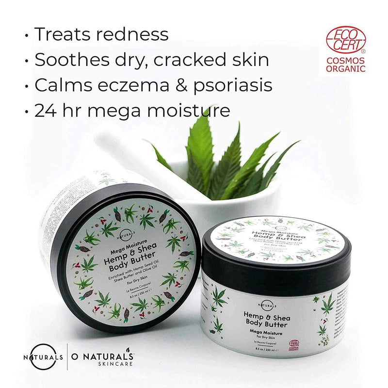 Mega Moisturizing Hemp Shea Body Butter - O Naturals