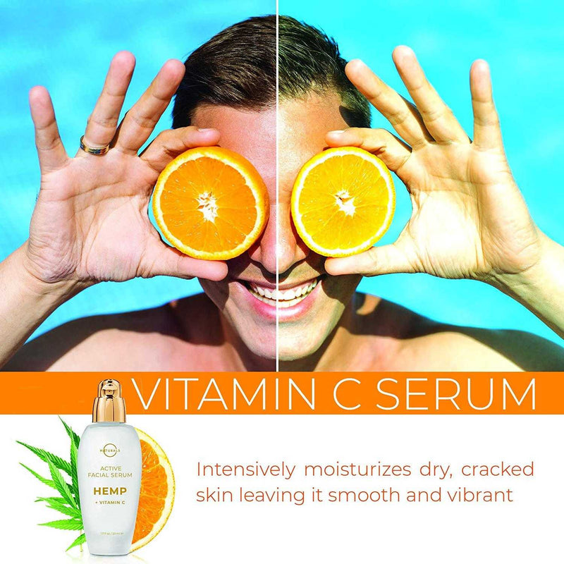Anti-Aging Hemp & Vitamin C Face Serum - O Naturals