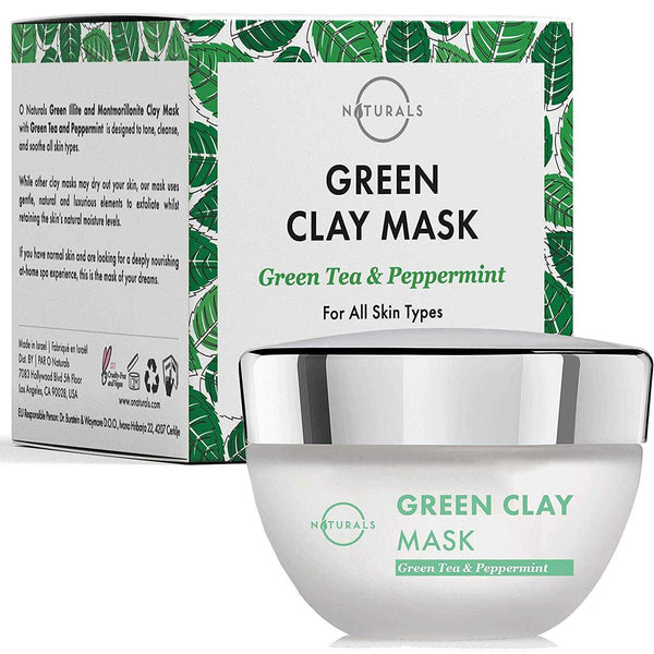 Green Clay Mask with Montmorillonite Clay - O Naturals