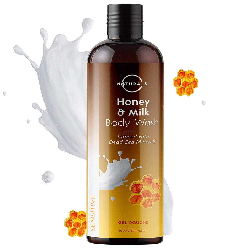 Sensitive Natural Honey & Milk Body Wash - O Naturals