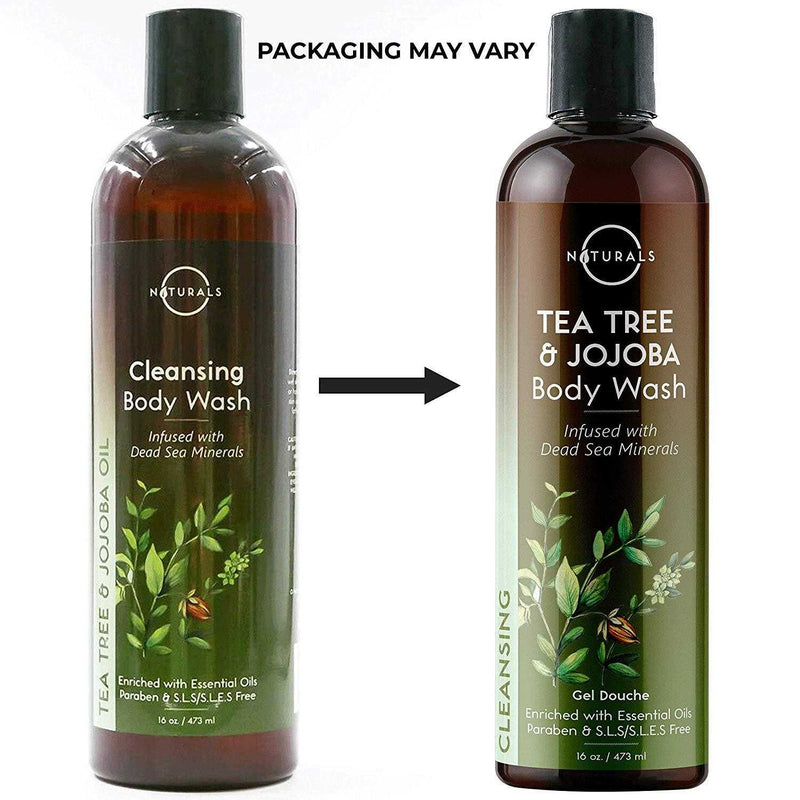 Cleansing Tea Tree & Jojoba Natural Body Wash - O Naturals