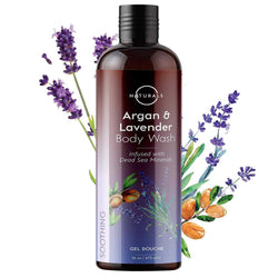 Soothing Argan & Lavender Natural Body Wash - O Naturals
