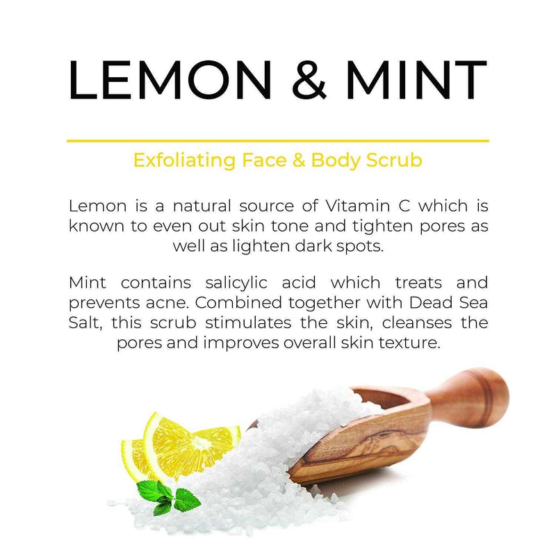 Lemon & Mint Dead Sea Salt Scrub - O Naturals