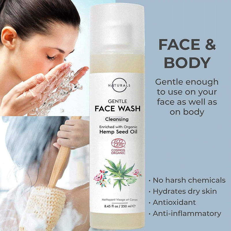 Hemp Gentle Face & Body Wash - O Naturals