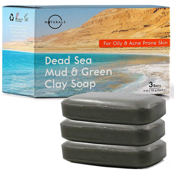 Dead Sea Mud & French Green Clay Bar Soap - O Naturals