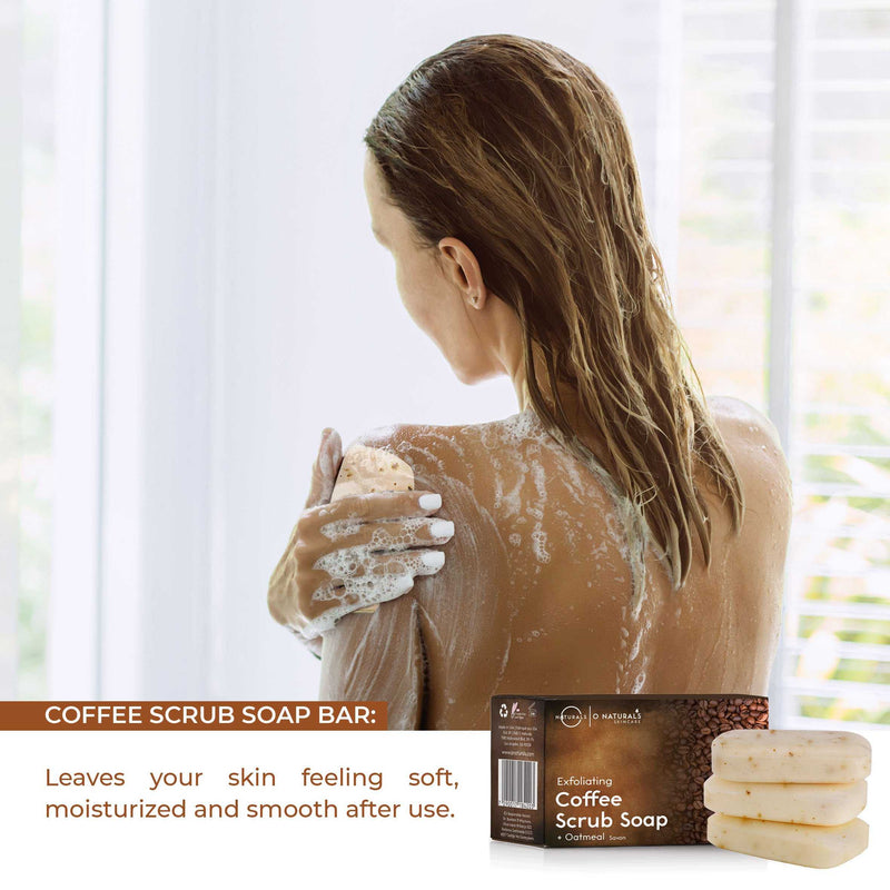 Exfoliating Coffee & Oatmeal Bar Soap - O Naturals