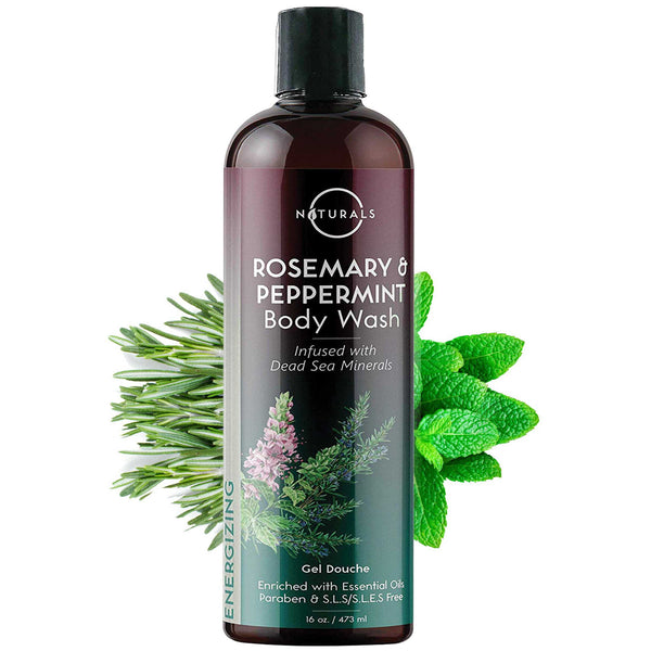 Energizing Rosemary & Peppermint Natural Body Wash - O Naturals