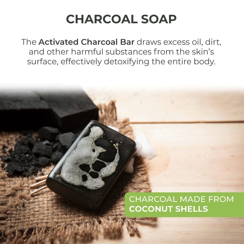 Activated Charcoal & Peppermint Bar Soap - O Naturals