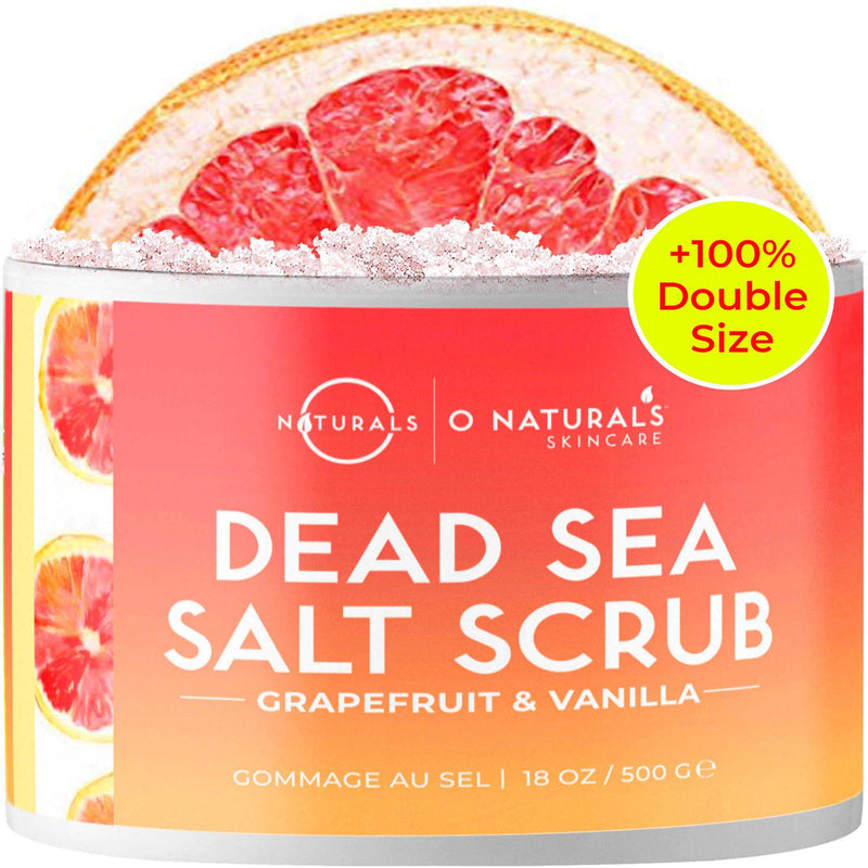 Grapefruit & Vanilla Dead Sea Salt Scrub - O Naturals