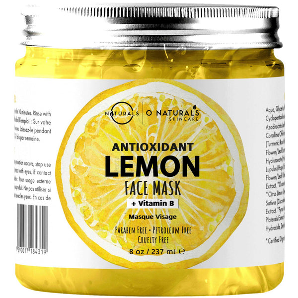 Antioxidant Lemon & Vitamin B Gel Face Mask - O Naturals