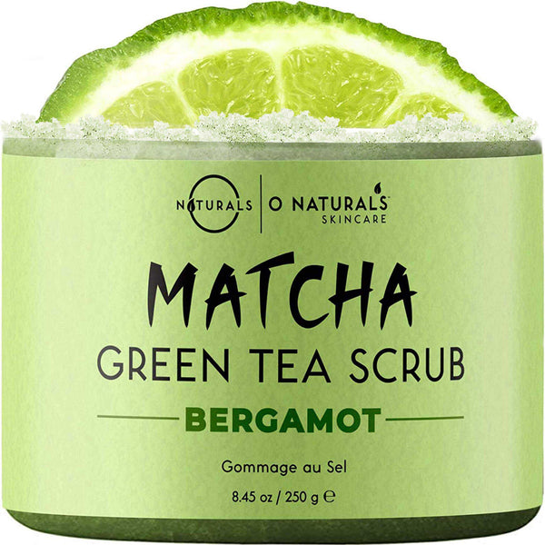 Matcha Green Tea Body Scrub with Dead Sea Salt - O Naturals