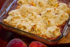 Peach Cobbler with Coconut Sugar Biscuits by Bella Gluten-Free