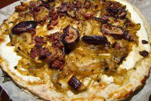 Caramelized Onion, Bacon and Fig Pizza Recipe by Bella Gluten-Free