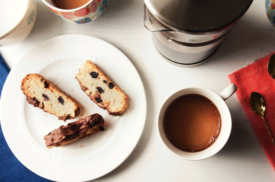 Chocolate Dipped Biscotti by Bella Gluten-Free
