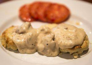 Flaky Biscuits with Sausage Gravy Recipe by Bella Gluten-Free