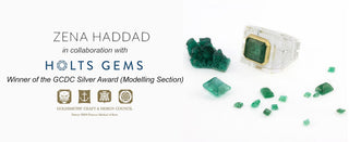 Zena Haddad design story: emerald and quartz ring