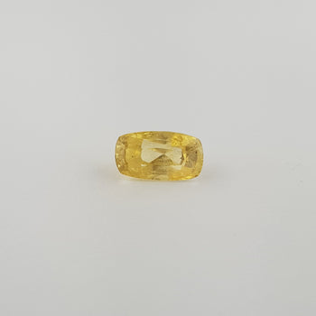 5.00ct Cushion Cut Yellow Sapphire 11.5x6.3mm