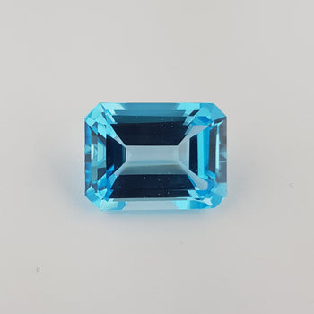 27.79ct Octagon Cut Swiss Blue Topaz 20x15mm