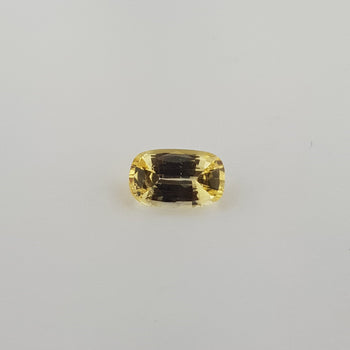 2.12ct Cushion Cut Yellow Sapphire 9.8x6.1mm