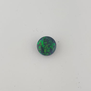 1.62ct Round Cabochon Semi-Black Opal 7.8mm