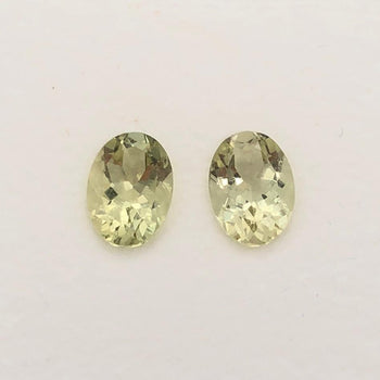 1.43ct Pair of Oval Faceted Beryl 7x5mm
