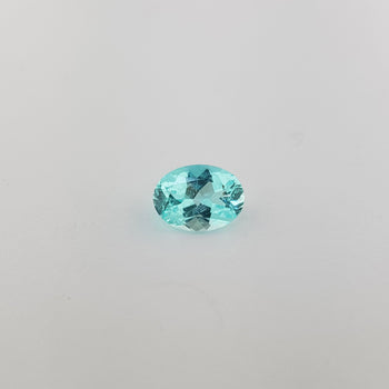1.06ct Oval Faceted Paraiba Type Tourmaline 8x6mm