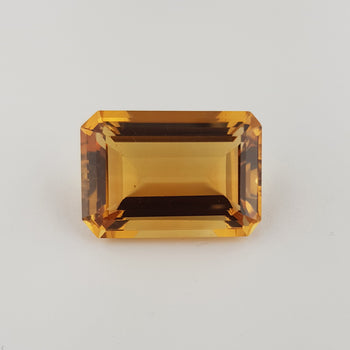32.13ct Octagon Cut Citrine 26x17mm