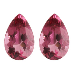 8.91ct Pear Shape Pink Tourmaline Pair 14x9mm