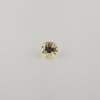 1.56ct Cushion Cut Yellow Sapphire 6x5.7mm