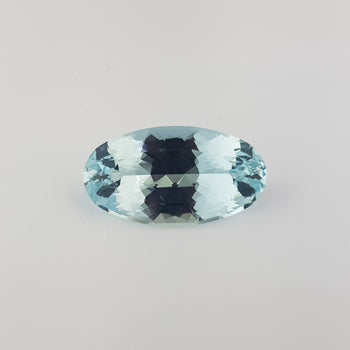 38.84ct Oval Faceted Aquamarine 33.6x18.5mm