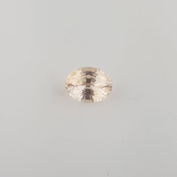 4.01ct Oval Faceted Peach Sapphire 11.1x8.4mm