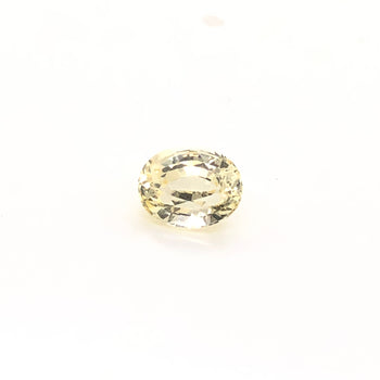 1.60ct Oval Faceted Yellow Sapphire 7.6x5.7mm