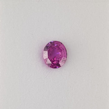 2.09ct Oval Faceted Pink Sapphire 7.4x6.5mm