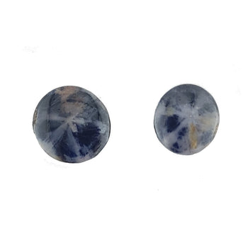Pair of 12x9mm Oval Cabochon Trapiche Sapphires