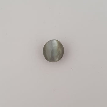 3.93ct Oval Cabochon Cat's Eye Chrysoberyl 8.9x8.4mm