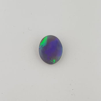 2.00ct Oval Cabochon Semi-Black Opal 10.9x8.9mm