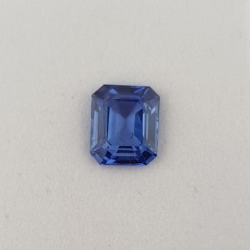 3.69ct Octagon Cut Sapphire Certified Unheated 9.2x7.7mm