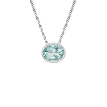 Oval Aquamarine Slider Pendant