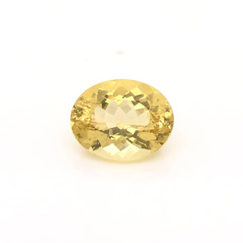 11.56ct Oval Faceted Heliodor 16.9x13.3mm