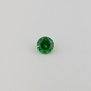 0.48ct Round Faceted Demantoid Garnet 4.6mm