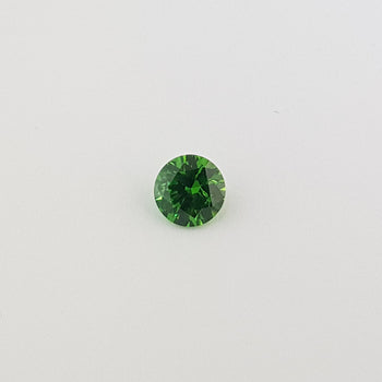 0.78ct Round Faceted Demantoid Garnet 5.5mm