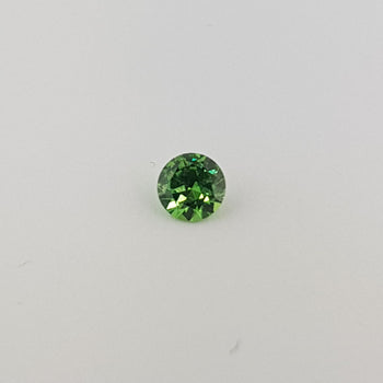 0.52ct Round Faceted Demantoid Garnet 5mm