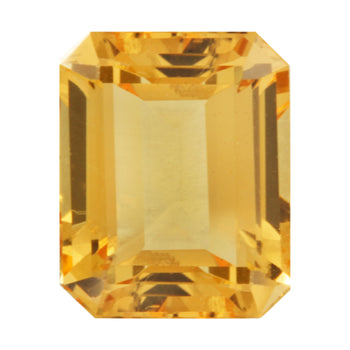 4.36ct Octagon Cut Golden Topaz 10x8mm