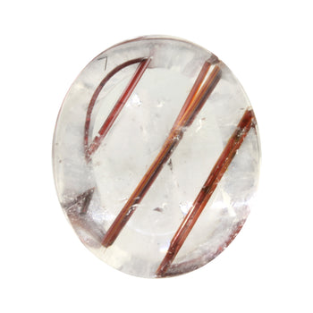 13.59ct Buff-Top Oval Red Rutilated Quartz 20x17mm
