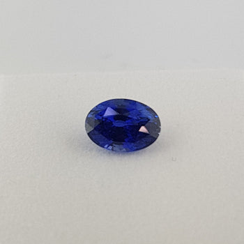 2.03ct Oval Faceted Sapphire 8.4x6mm