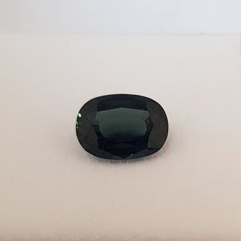 2.83ct Dark Green Oval Faceted Sapphire 10.1x7.3mm