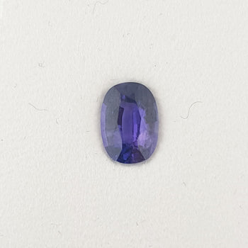 0.95ct Oval Faceted Sapphire 7x5mm
