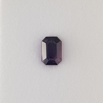 2.52ct Octagon Cut Deep Purple Sapphire 8.1x5.6mm