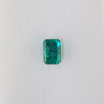 1.04ct Octagon Cut Emerald 7x4.6mm