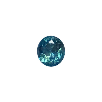 0.94ct Oval Faceted Blue-Green Sapphire 5.6x5.1mm
